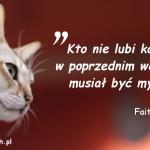 Cytaty o kotach - Faith Resnick