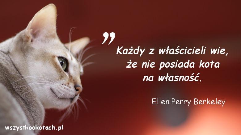 Cytaty o kotach - Ellen Perry Berkeley