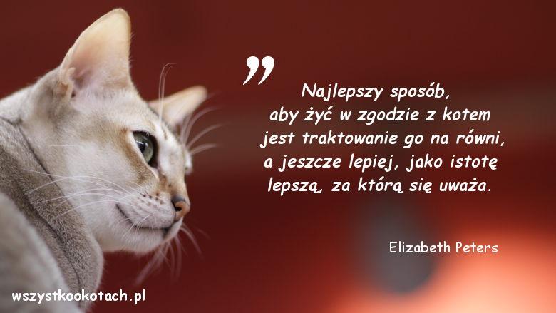 Cytaty o kotach - Elizabeth Peters