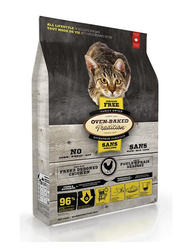 Sucha karma Oven-Baked Tradition dla kotów, zkurczakiem