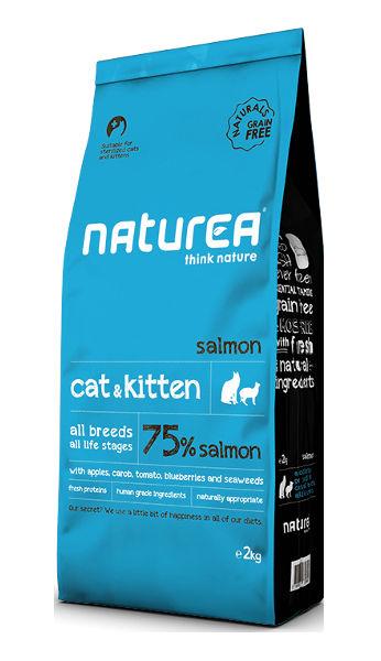 Sucha karma Naturea Cat & Kitten złososiem