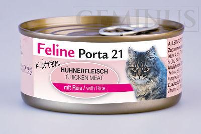Mokra karma Feline Porta 21 dla Kociąt – Mięso kurczaka zryżem wzalewie