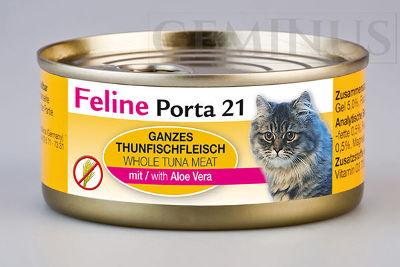 Mokra karma Feline Porta 21 dla dorosłych kotów – Mięso tuńczyka zaloesem wgalaretce