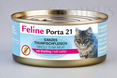 Mokra karma Feline Porta 21 dla dorosłych kotów – Mięso tuńczyka zshirasu wgalaretce