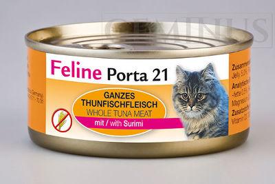 Mokra karma Feline Porta 21 dla dorosłych kotów – Mięso tuńczyka zsurimi wgalaretce
