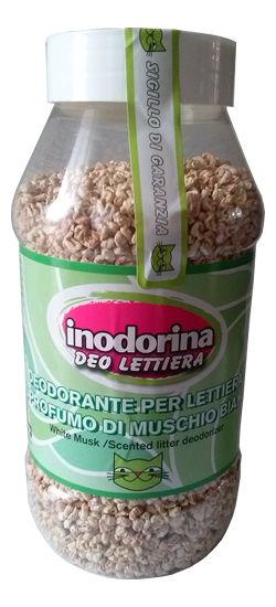Inodorina Deo Lettiera Deodorante Per Lettiera Al Profumo Di Muschio - Posypka ozapachu białego piżma