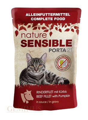Mokra karma Feline Porta 21 Nature Sensible Filet Wołowy zDynią wSosie, 70g