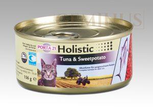 Mokra karma Feline Porta Holistic 21 dla kotów, zwierająca tuńczyka isłodkie ziemniaki, 156g