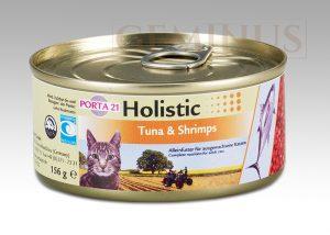 21 Holistic dla kotów, zwierająca tuńczyka ikrewetki, 156g
