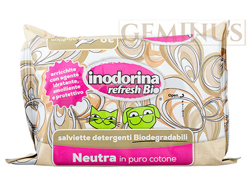 Chusteczki pielęgnacyjne Inodorina Refresh Bio ozapachu neutralnym