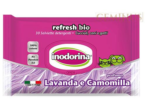 Chusteczki pielęgnacyjne Inodorina Refresh Bio ozapachu lawendy irumianku