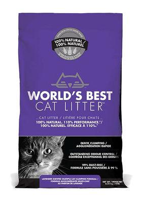 kukurydziany żwirek dla kotów, World's Best Litter ozapachu lawendyym