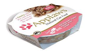 Mokra karma Applaws dla kotów: Soczysty Filet zTuńczyka zKrabem; miseczka 60g