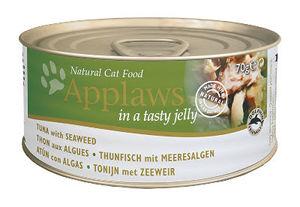 Mokra karma Applaws dla kotów: Filet zTuńczyka zWodorostami wGalaretce; puszka 70g