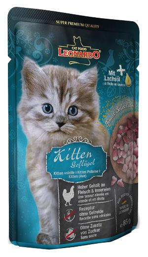 Mokra karma Leonardo Finest Selection Kitten Gelflügel