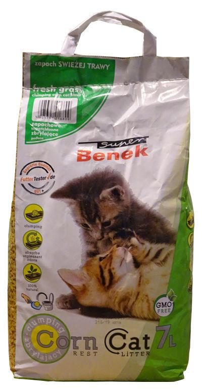 Kukurydziany żwirek Super Benek Corn dla kotów