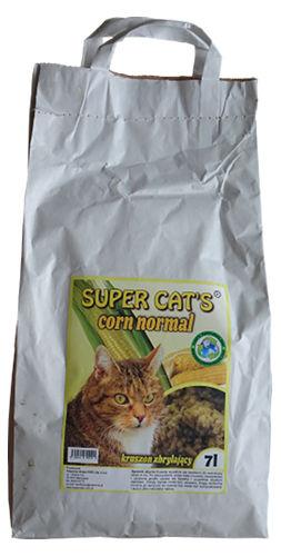 Kukurydziany żwirek Super Cat's Corn Normal dla kotów