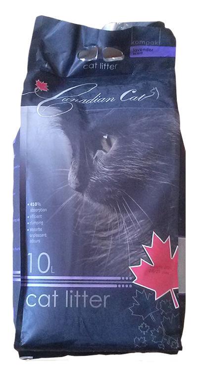bentonitowy żwirek Canadian Cat dla kotów- lawendy