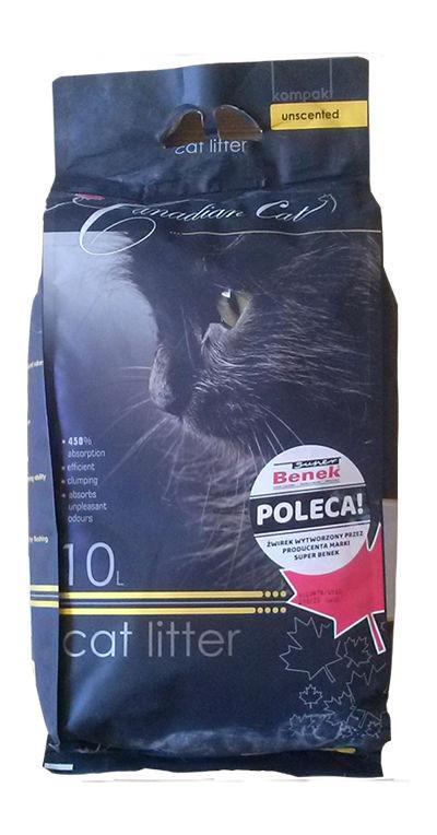 bentonitowy żwirek Canadian Cat dla kotów- naturalny