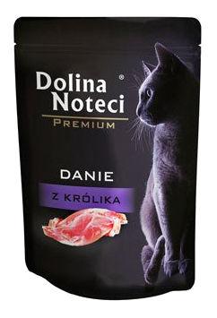 Mokra karma dla kotów dorosłych Dolina Noteci Premium danie zkrólika – saszetka 85g
