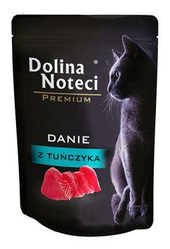 Mokra karma dla kotów dorosłych Dolina Noteci Premium danie ztuńczyka – saszetka 85g