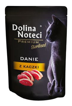 Mokra karma dla kotów sterylizowanych Dolina Noteci Premium danie zkaczki – saszetka 85g