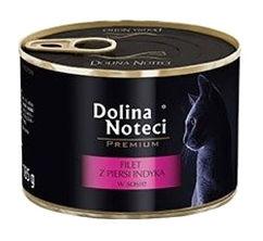 Mokra karma dla kotów dorosłych Dolina Noteci Premium filet zpiersi indyka wsosie – puszka 185g