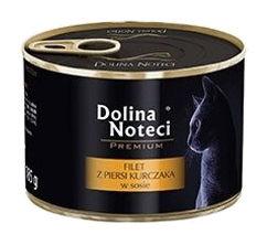 Mokra karma dla kotów dorosłych Dolina Noteci Premium filet zpiersi kurczaka wsosie – puszka 185g