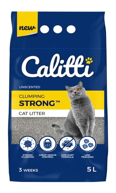 Bentonitowy żwirek Calitti Strong Unscented dla kotów