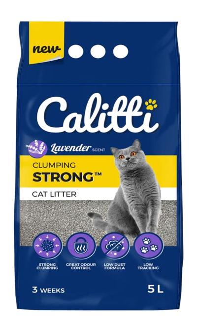 Bentonitowy żwirek Calitti Strong Lavender dla kotów