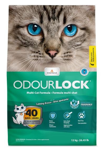 Bentonitowy żwirek Intersand OdourLock Calming Breeze dla kotów – ozapachu łagodnej bryzy