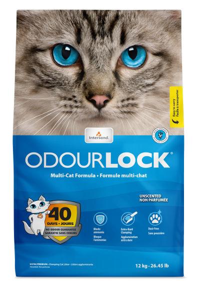 Bentonitowy żwirek Intersand OdourLock Unscented dla kotów – ozapachu naturalnym, nieprefumowany