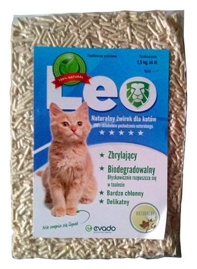 Roślinny żwirek Leo dla kotów – pellet ozapachy naturalnym